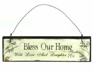 Bless Our Home Wooden Sign WAS £3.00